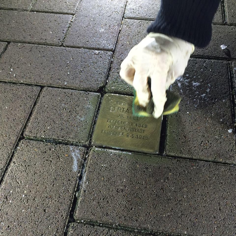 Stolpersteinputzen 2017